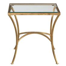 Allegra Side Table, GLASS, SIDE