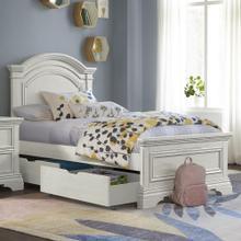 Product Image - Olivia Twin Bed  Brushed White Brushed White