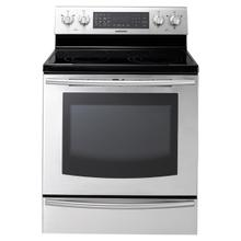 5.9 cu. ft. Large Capacity Electric Range (Stainless Steel) (This is a Stock Photo, actual unit (s) appearance may contain cosmetic blemishes. Please call store if you would like actual pictures). This unit carries our 6 month warranty, MANUFACTURER WARRANTY and REBATE NOT VALID with this item. ISI 34719