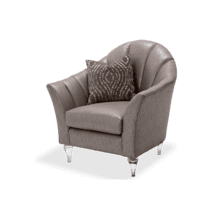 Maritza Channel Back Chair Platinum