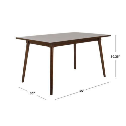 Tia Rectangle Dining Table - Walnut