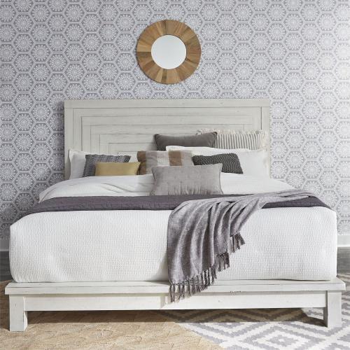 King Platform Bed, Dresser & Mirror, Night Stand