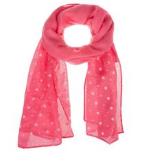 See Details - Kids' Hot Pink Star Scarf.