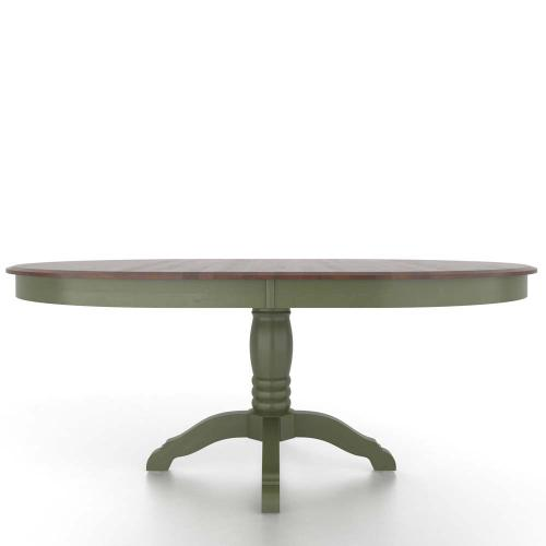 Oval table with pedestal