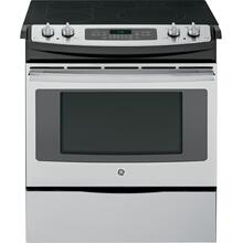 """See Details - GE® 30"""" Slide-In Front Control Electric Convection Range"""