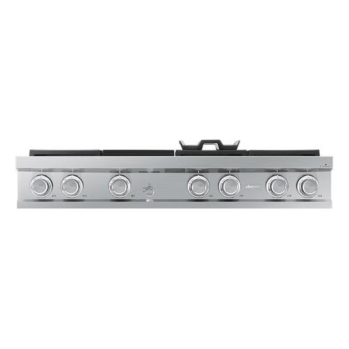 "48"" Rangetop, Silver Stainless Steel, High Altitude Liquid Propane"