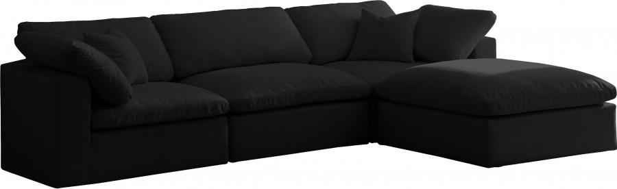 "Cozy Velvet Cloud Modular Down Filled Overstuffed Reversible Sectional - 119"" W x 80"" D x 32"" H"