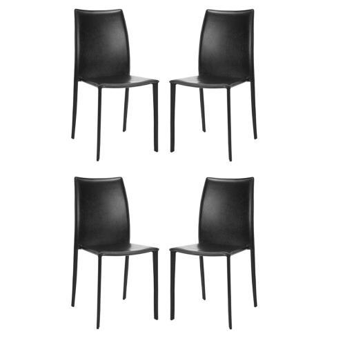 Korbin 19''h Stacking Side Chair (set of 2) - Black