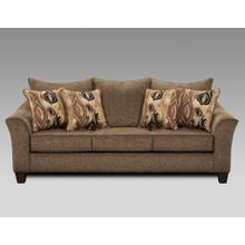 Camero Cafe Fabric Pillowback Sofa