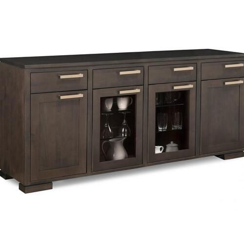 - Cordova Sideboard w/2 Wood, 2/Glass Doors & 4/Dwrs & 2/Wood, 2/Glass Adjusts.