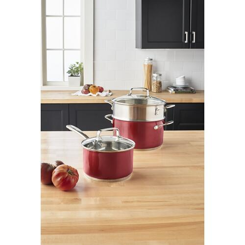 KitchenAid - 1.9 L Stainless Steel Sauce Pan With Lid - Other