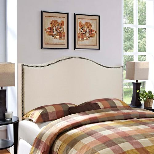 Modway - Curl Queen Nailhead Upholstered Headboard in Ivory