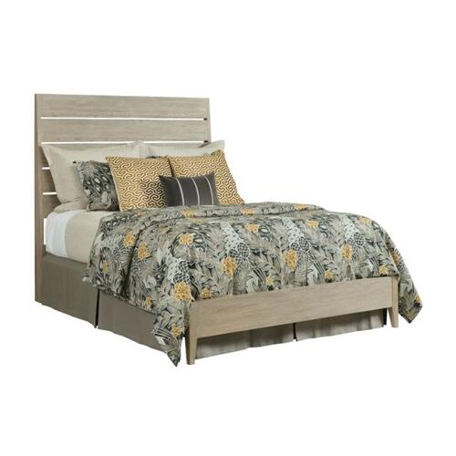 Incline Oak Queen Bed Low Footboard - Complete