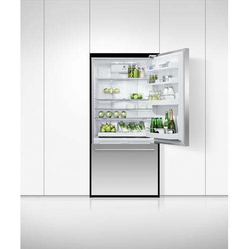 "Fisher & Paykel - Freestanding Refrigerator Freezer, 32"", 17.1 cu ft, Ice & Water"