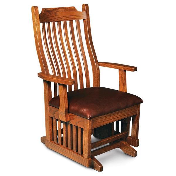 See Details - Urbandale Arm Glider, Wood Seat