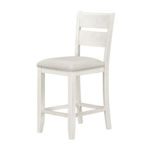 Standard Furniture - Kyle Light 2-Pack Counter Height Upholstered Barstool, White