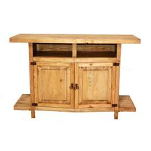 See Details - TV Stand W/ Shelves and Star (star)