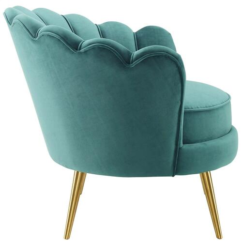 Modway - Admire Accent Armchair Performance Velvet Set of 2 in Teal