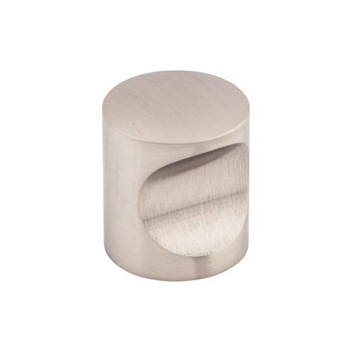 Top Knobs - Indent Knob 1 Inch Brushed Stainless Steel