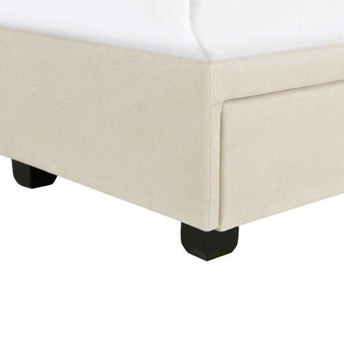 Accentrics Home - Twin Tufted Storage Bed in Linen