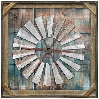 Wind Wheel  Textured Framed Print  20in X 20in