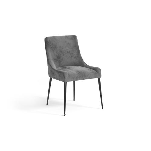 Arthur Chair - Grey Velvet