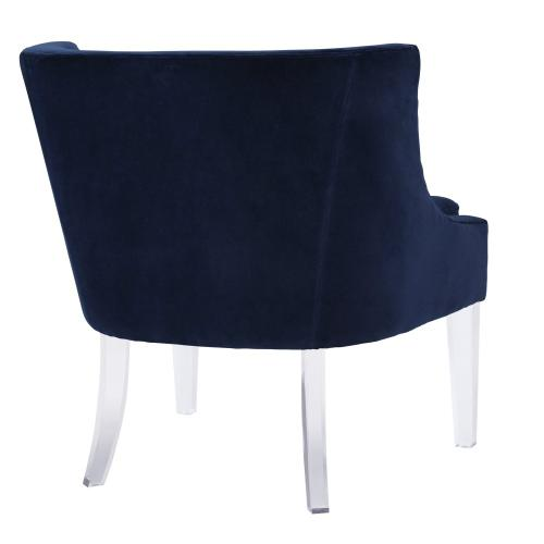 Myra Blue Velvet Chair
