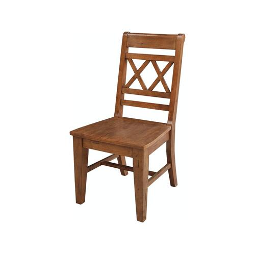 Double X Back Chair in Bourbon