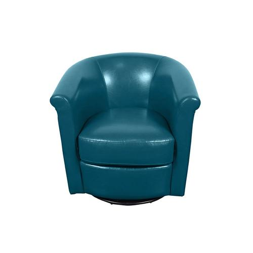 Marvel Teal Blue Swivel Accent Chair, AC213
