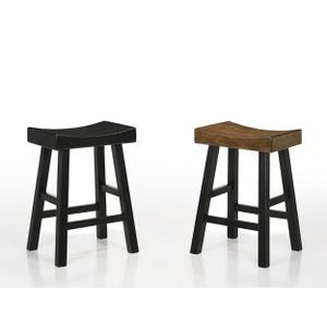 "Aruba Saddle Stool 24""h Black"