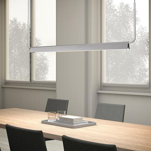 "Sonneman - A Way of Light - Morii LED Pendant [Size=48"", Color/Finish=Bright Satin Aluminum]"