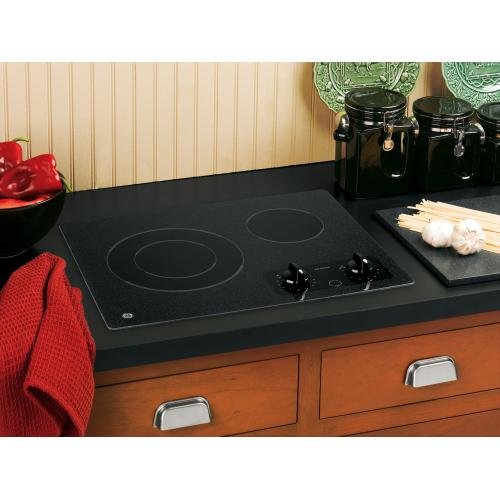 "GE 21"" Electric Smoothtop Cooktop Black JP256BMBB"