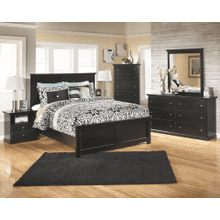 Maribel- Black-8pc.- Dresser, Mirror, Chest, Nightstand & King Panel Bed