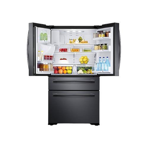 Samsung - 30 cu. ft. 4-Door French Door Refrigerator in Black Stainless Steel