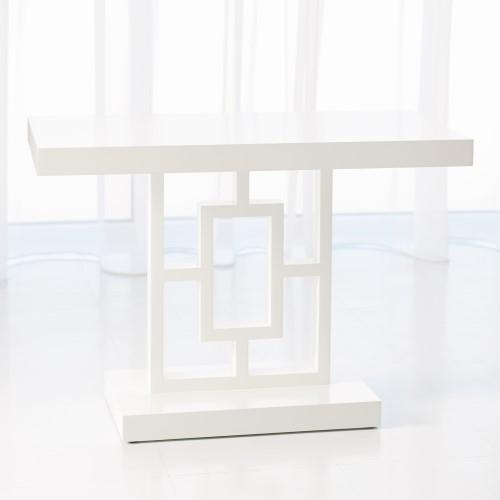 Grid Block Side Table-White