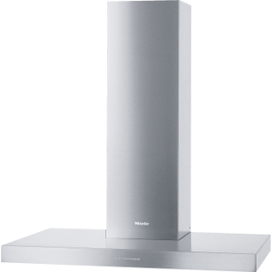 MielePUR 98 W - Wall ventilation hood with energy-efficient LED lighting and backlit controls for easy use.