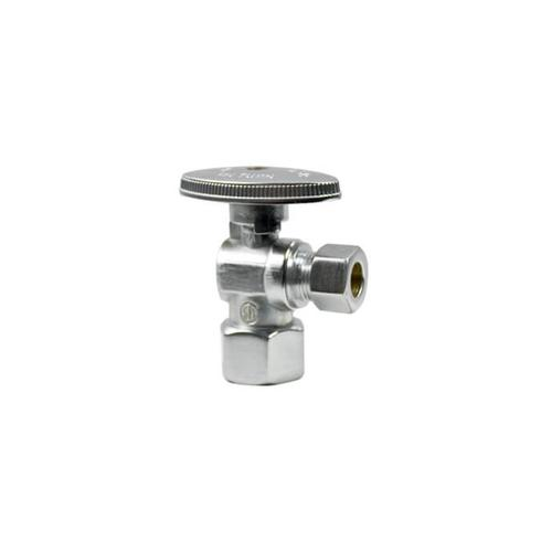 Mountain Plumbing - Brass Oval Handle with 1/4 Turn Ball Valve - Lead Free - Angle - Polished Gold
