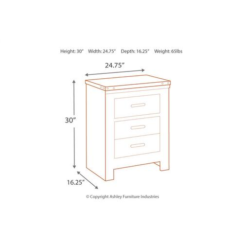 Trinell Two Drawer Night Stand Brown