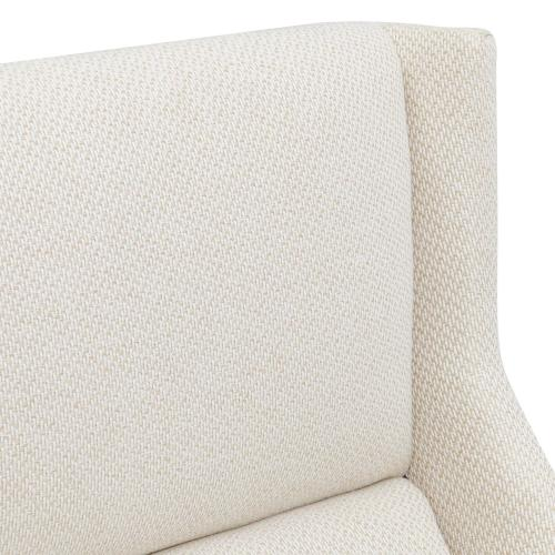 Evian KD Fabric Arm Chair, Cardiff Cream