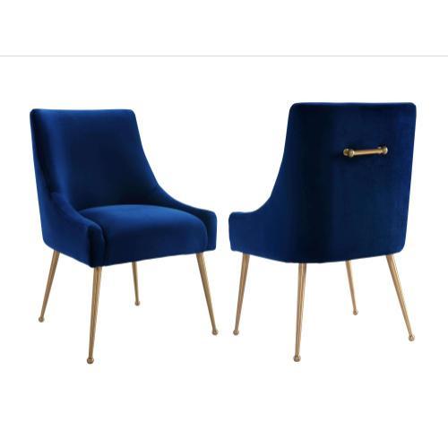 Tov Furniture - Beatrix Navy Velvet Side Chair