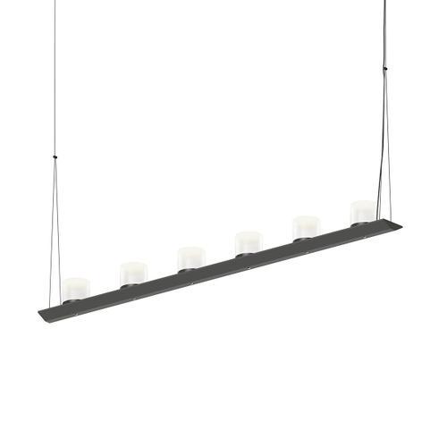 "Sonneman - A Way of Light - Votives LED Bar Pendant [Size=4', Color/Finish=Satin Black, Shade Size=3"" height x 3"" diameter]"