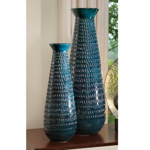Tall Graffiti Vase-Cobalt-Sm