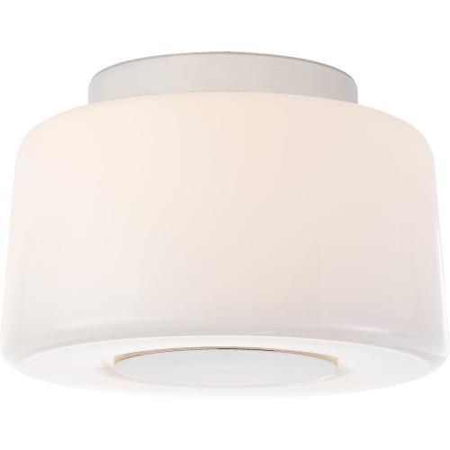 Visual Comfort BBL4105PN-WG Barbara Barry Acme 3 Light 9 inch Polished Nickel Flush Mount Ceiling Light, Small