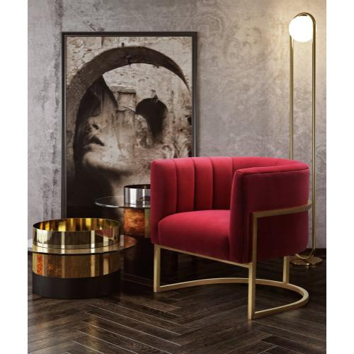 Magnolia Hot Pink Velvet Chair