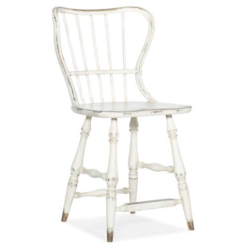 Product Image - Ciao Bella Spindle Back Counter Stool-White
