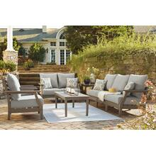 Outdoor Sofa and Loveseat With 2 Lounge Chairs and End Table
