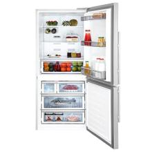 """See Details - 30"""" Bottom Freezer/Fridge 18 cuft, wrapped stainless doors, stainless handles, right hinge"""