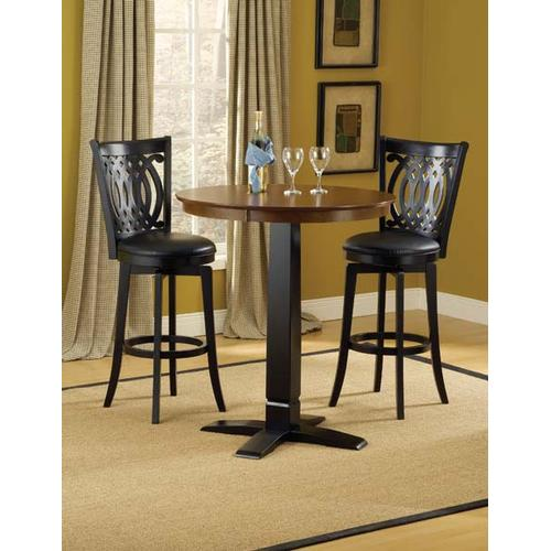 Hillsdale Furniture - Dynamic Designs 3pc Pub Set w/ Van Draus Stools