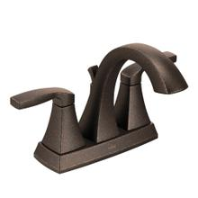 Voss Oil rubbed bronze two-handle high arc bathroom faucet