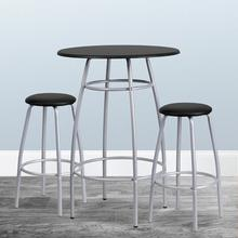 Product Image - Bar Height Table Set with Padded Stools